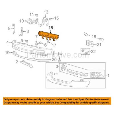 Aftermarket Replacement - GRL-1364C CAPA 04 05 06 F150 Pickup Truck Front Bumper Grill Grille Surround FO1036109 - Image 3