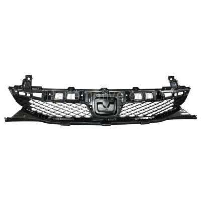Aftermarket Replacement - GRL-1852C CAPA 09 10 11 Accord Sedan & Hybrid Front Grill Grille HO1200198 71121SNAA50 - Image 1