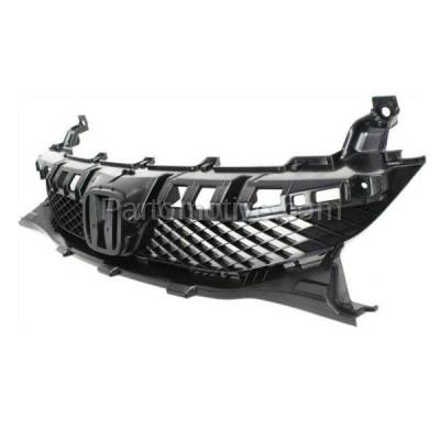 Aftermarket Replacement - GRL-1852C CAPA 09 10 11 Accord Sedan & Hybrid Front Grill Grille HO1200198 71121SNAA50 - Image 2