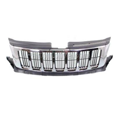 Aftermarket Replacement - GRL-1330C CAPA 11-13 GR. Cherokee Front Grill Grille Chrome w/Black Insert 55079377AE - Image 3