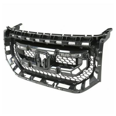 Aftermarket Replacement - GRL-1854C CAPA 09-11 Pilot Front Face Bar Grill Grille Black HO1200200 75101SZAA01ZA - Image 2