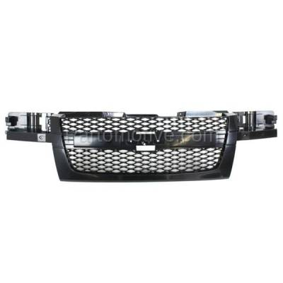Aftermarket Replacement - GRL-1716C CAPA 04-12 Chevy Colorado Front Grill Grille Gray Shell GM1200560 12335790 - Image 1