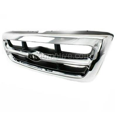 Aftermarket Replacement - GRL-1424C CAPA 98-00 Ranger Pickup Truck Front Grill Grille Chrome Shell F87Z8200EAA - Image 2