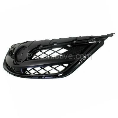 Aftermarket Replacement - GRL-2551C CAPA 11 12 13 Corolla Sedan Front Grill Grille Black TO1200340 5310002410C0 - Image 2
