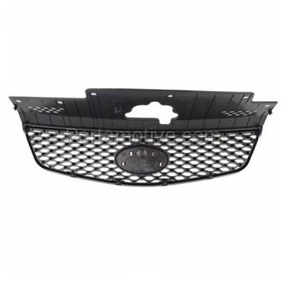 Aftermarket Replacement - GRL-1978C CAPA Front Grill Grille Honeycomb Insert KI1200125 863611G010 Fits 06-09 Rio - Image 3
