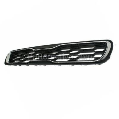 Aftermarket Replacement - GRL-1993C CAPA NEW Front Grill Grille Black/Chrome KI1200149 863502K500 For 12-13 Soul - Image 2