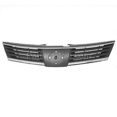 Aftermarket Replacement - GRL-2271C CAPA Front Grill Grille Chrome/Black NI1200224 62310EM30A For 07 08 09 Versa - Image 1