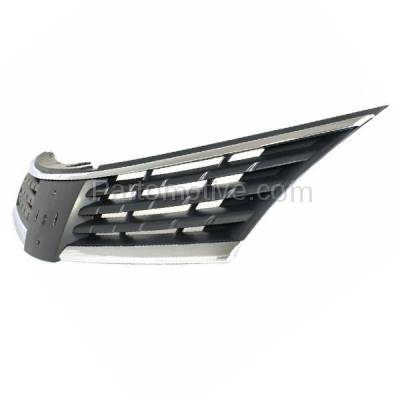 Aftermarket Replacement - GRL-2271C CAPA Front Grill Grille Chrome/Black NI1200224 62310EM30A For 07 08 09 Versa - Image 2