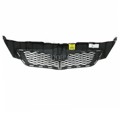 Aftermarket Replacement - GRL-2519C CAPA 09-10 Corolla USA Built Front Grill Grille Black TO1200304 5311102450 - Image 3