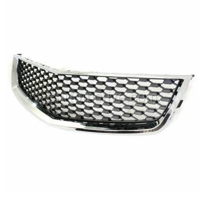 Aftermarket Replacement - GRL-1759C CAPA 10-15 Equinox Front Lower Grill Grille Chrome Black GM1200621 25798747 - Image 2