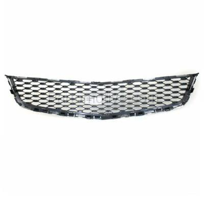 Aftermarket Replacement - GRL-1759C CAPA 10-15 Equinox Front Lower Grill Grille Chrome Black GM1200621 25798747 - Image 3