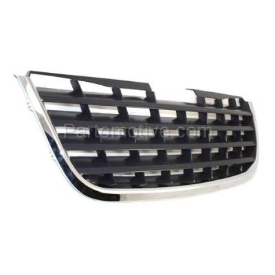 Aftermarket Replacement - GRL-1319C CAPA 08-10 Town&Country Front Grill Grille Chrome w/Black Insert 5113127AA - Image 2
