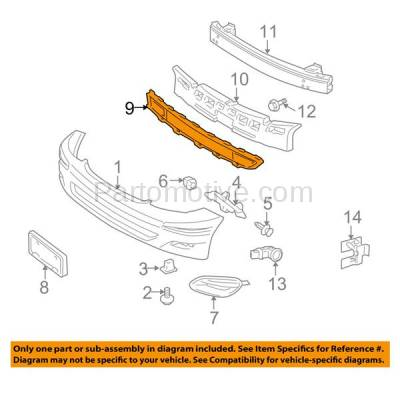 Aftermarket Replacement - GRL-2373C CAPA 06-10 Sienna Front Lower Bumper Grill Grille Black TO1036110 53112AE020 - Image 3
