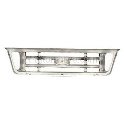 Aftermarket Replacement - GRL-1478C CAPA 03-07 E-Series Van Front Face Bar Grill Grille FO1200428 2C2Z8200AAD - Image 3