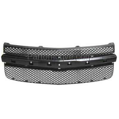 Aftermarket Replacement - GRL-1695C CAPA 05-09 Chevy Equinox Front Face Bar Grill Grille Black GM1200527 5481230 - Image 1