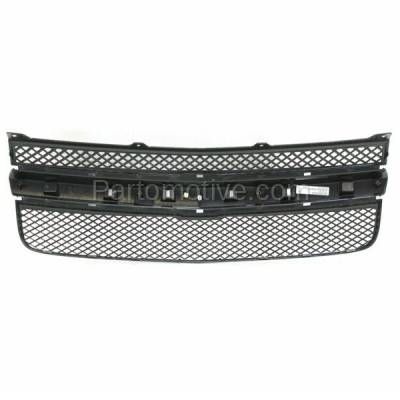Aftermarket Replacement - GRL-1695C CAPA 05-09 Chevy Equinox Front Face Bar Grill Grille Black GM1200527 5481230 - Image 3