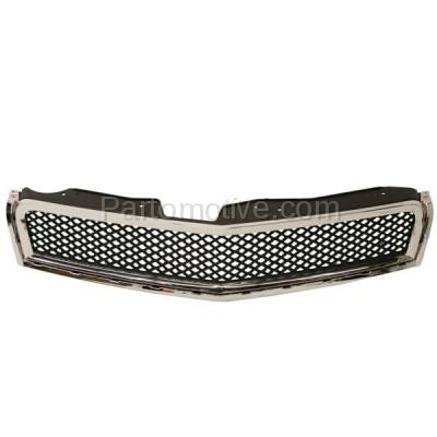Aftermarket Replacement - GRL-1753C CAPA 09-12 Chevy Traverse Front Grill Grille Chrome Black GM1200615 15943196 - Image 1