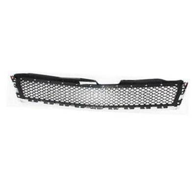 Aftermarket Replacement - GRL-1753C CAPA 09-12 Chevy Traverse Front Grill Grille Chrome Black GM1200615 15943196 - Image 3