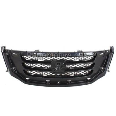 Aftermarket Replacement - GRL-1848C CAPA 08-10 Odyssey Front Face Bar Grill Grille Black HO1200190 71121SHJA02 - Image 1