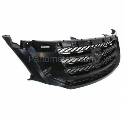 Aftermarket Replacement - GRL-1848C CAPA 08-10 Odyssey Front Face Bar Grill Grille Black HO1200190 71121SHJA02 - Image 2
