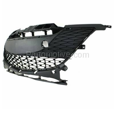 Aftermarket Replacement - GRL-2066C CAPA 10-11 Mazda3 2.0L Front Lower Bumper Grill Grille MA1036112 BBM4501T1H - Image 2