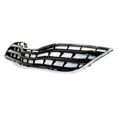 Aftermarket Replacement - GRL-2536C CAPA 10-11 Camry LE Front Grill Grille Black/Chrome TO1200324 5310106070C0 - Image 2