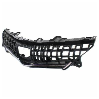 Aftermarket Replacement - GRL-2557C CAPA 12-14 Prius V Front Grill Grille Black/Chrome-Trim TO1200348 5310147010 - Image 2