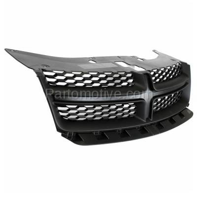 Aftermarket Replacement - GRL-1334C CAPA 11-14 Avenger Front Grill Grille Black Shell w/Gray Insert 68102307AC - Image 2