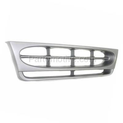 Aftermarket Replacement - GRL-1422C CAPA 97-02 E-Series Econoline Van Front Grill Grille Silver Shell FO1200338 - Image 2