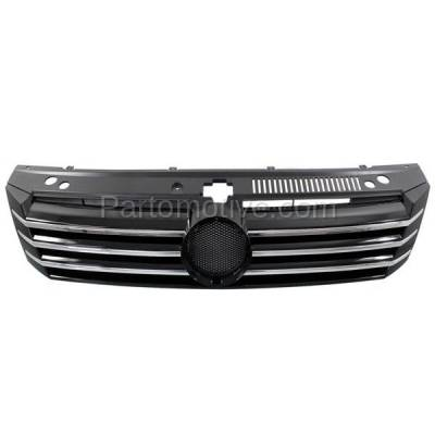 Aftermarket Replacement - GRL-2630C CAPA Aftermarket Front Grill Grille VW1200153 561853651AOQE - Image 1