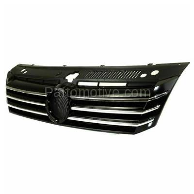 Aftermarket Replacement - GRL-2630C CAPA Aftermarket Front Grill Grille VW1200153 561853651AOQE - Image 2