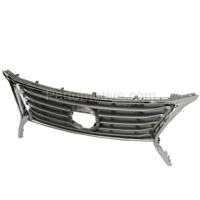 Aftermarket Replacement - GRL-2046C CAPA 13-15 RX-350/450h Front Grill Grille Chrome Shell LX1200144 531010E140 - Image 1