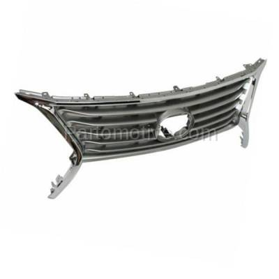Aftermarket Replacement - GRL-2046C CAPA 13-15 RX-350/450h Front Grill Grille Chrome Shell LX1200144 531010E140 - Image 2