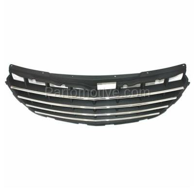 Aftermarket Replacement - GRL-1290C CAPA 04-06 Pacifica Front Gray Grill Grille Chrome Trim CH1200277 4857625AB - Image 3
