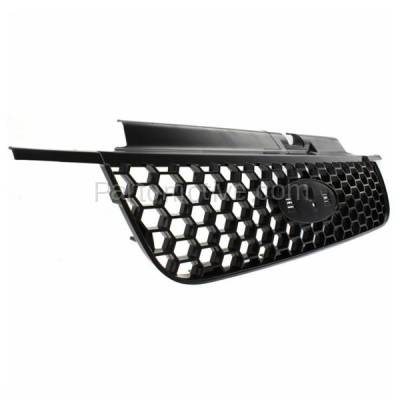 Aftermarket Replacement - GRL-1483C CAPA 05 06 07 Escape & Hybrid Grill Grille Black Shell FO1200446 5L8Z8200AAB - Image 2