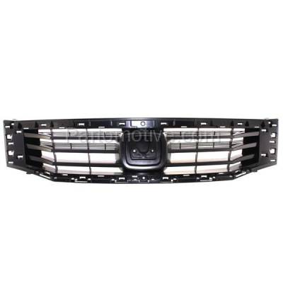 Aftermarket Replacement - GRL-1847C CAPA 08 09 10 Accord Sedan Front Face Bar Grill Grille HO1200189 71121TA0A00 - Image 1