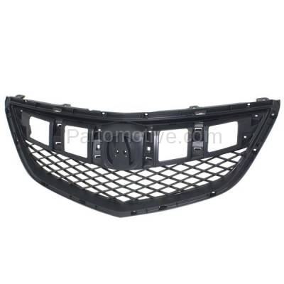 Aftermarket Replacement - GRL-1177C CAPA 13-15 RDX Front Face Bar Grill Grille Dark Gray AC1200122 71121TX4A01 - Image 1