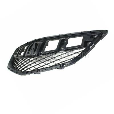 Aftermarket Replacement - GRL-1177C CAPA 13-15 RDX Front Face Bar Grill Grille Dark Gray AC1200122 71121TX4A01 - Image 2