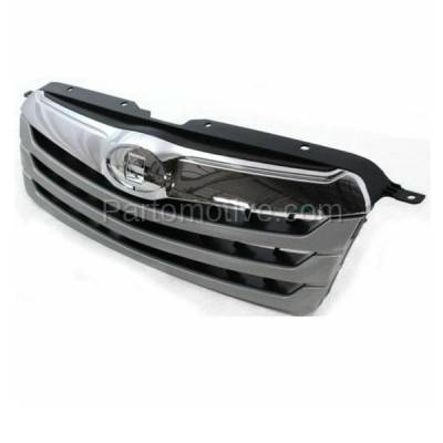 Aftermarket Replacement - GRL-2339C CAPA 10 11 12 Outback Front Grill Grille Chrome/Silver SU1200143 91121AJ04B - Image 2