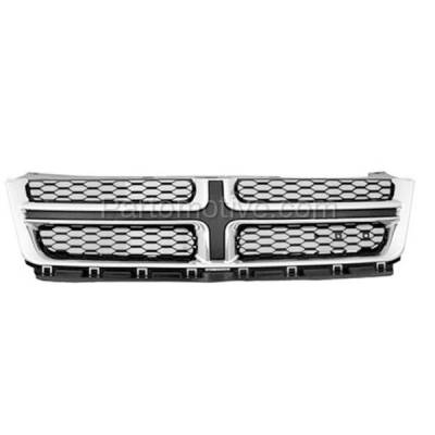Aftermarket Replacement - GRL-1333C CAPA 11-14 Avenger Front Grill Grille Chrome Molding w/Gray Insert CH1200348 - Image 1