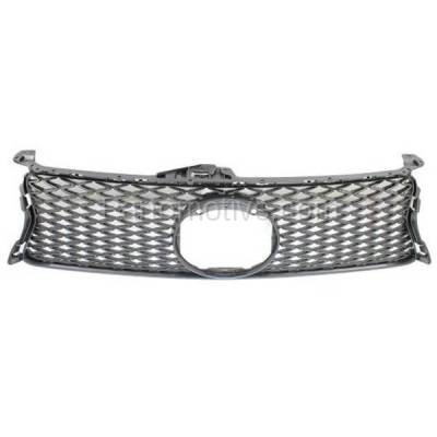 Aftermarket Replacement - GRL-2044C CAPA 13 14 15 GS-350/450h Front Grill Grille w/F-Sport LX1200142 5311130E00 - Image 1