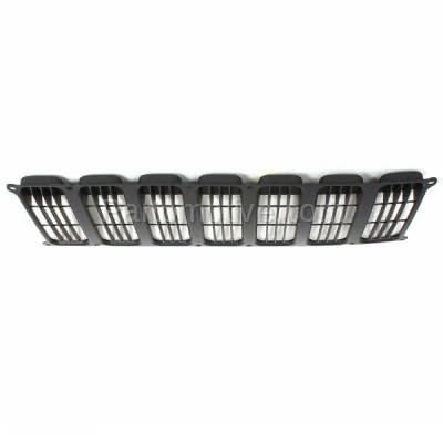 Aftermarket Replacement - GRL-1309C CAPA 07 08 09 10 Patriot Front Face Bar Grill Grille Insert Black CH1200308 - Image 3
