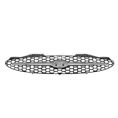 Aftermarket Replacement - GRL-1443C CAPA 00-03 Taurus Front Grill Grille Chrome Center Bar FO1200373 YF1Z8200AA - Image 1