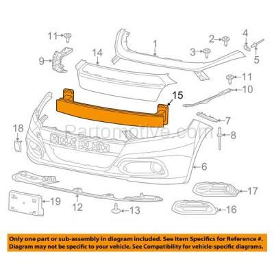 Aftermarket Replacement - BRF-1106FC 2013-2016 Dodge Dart (1.4 & 2.0 & 2.4 Liter Engine) (Sedan 4-Door) Front Bumper Impact Face Bar Crossmember Reinforcement Aluminum - Image 3