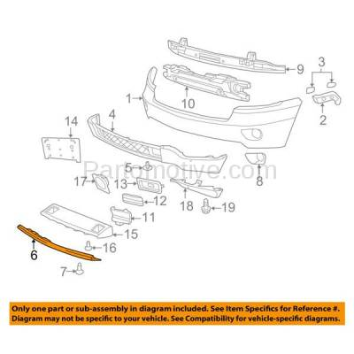 Aftermarket Replacement - VLC-1040F 11-13 Grand Cherokee Front Lower Skid Plate Valance Air Dam Deflector Apron Trim - Image 3