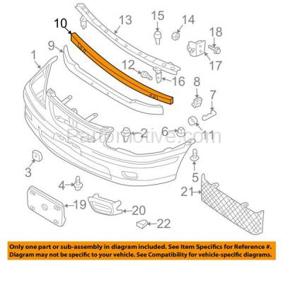 Aftermarket Replacement - BRF-1674FC 2000-2006 Nissan Sentra (Sedan 4-Door) Front Bumper Impact Face Bar Crossmember Reinforcement Beam Primed Made of Steel - Image 3
