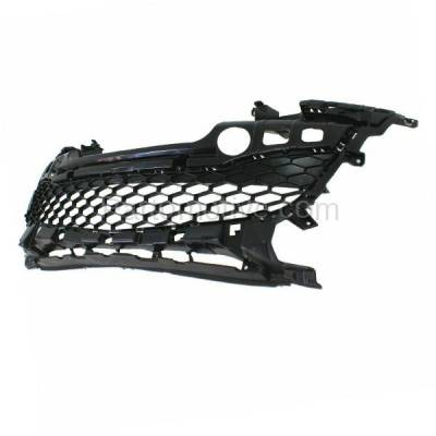 Aftermarket Replacement - GRL-2070C CAPA 12-13 Mazda3 Front Lower Bumper Grill Grille Gray MA1036116 BGV4501T1B - Image 2