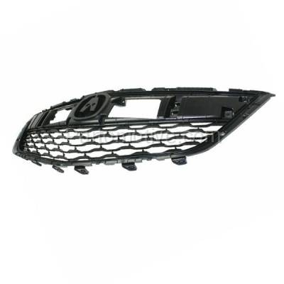 Aftermarket Replacement - GRL-1178C CAPA 14-16 MDX Front Face Bar Grill Grille Dark Gray AC1200121 75101TZ5A01 - Image 2