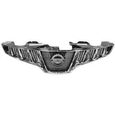 Aftermarket Replacement - GRL-2276C CAPA Front Grill Grille Chrome/Black NI1200232 623101AA0A Fits 09-10 Murano - Image 1