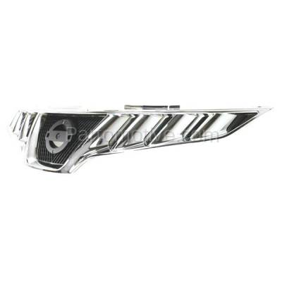Aftermarket Replacement - GRL-2276C CAPA Front Grill Grille Chrome/Black NI1200232 623101AA0A Fits 09-10 Murano - Image 2